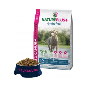 """Eukanuba"" NaturePlus+ Puppy All Breed Grain Free Salmon"