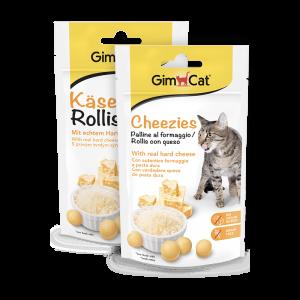 Gimcat Cheezies - Sūrio Ritinėliai Katėms