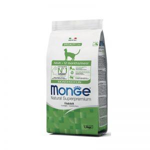 """""""Monge Natural Superpremium"""" Cat Adult Monoprotein Rabbit"""