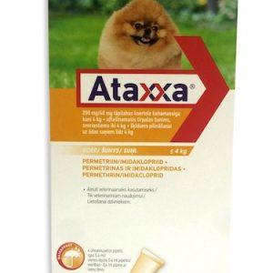 """a""""Ataxxa"""" lašai šunims nuo erkių ir blusų"""