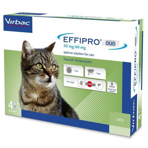 """""""Effipro"""" Duo Cat lašai katėms nuo erkių ir blusų"""
