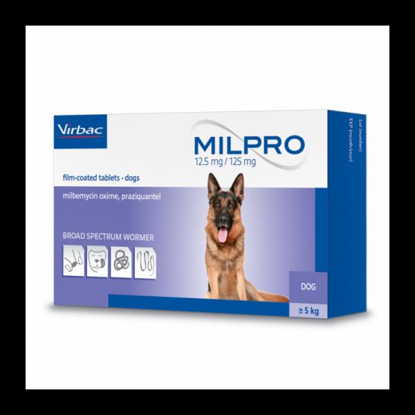 """""""Milpro"""" tabletės nuo kirmėlių šunims"""