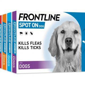 """""""Frontline"""" lašai šunims nuo erkių ir blusų"""