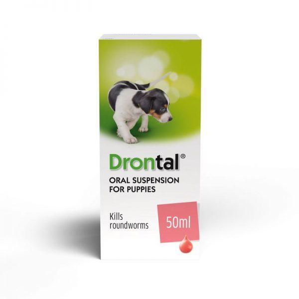 """""""Drontal Puppy"""" geriamoji suspensija nuo kirmėlių šuniukams"""